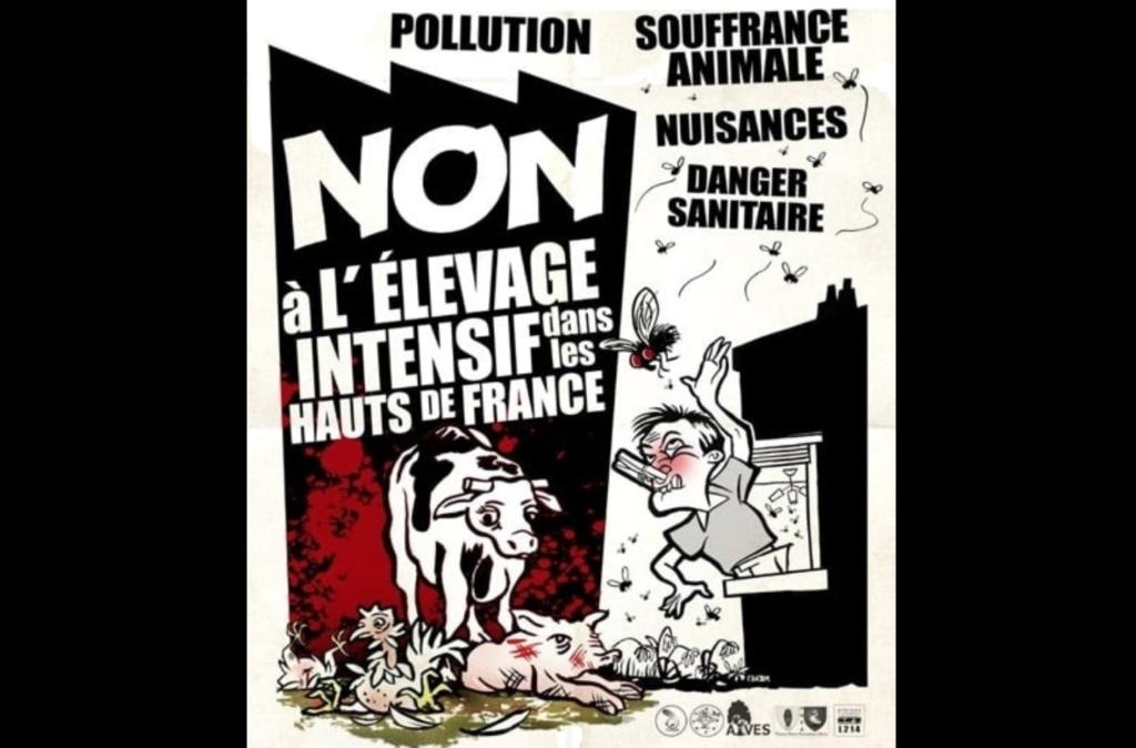 Mobilisation contre l'élevage intensif dans les Hauts-de-France